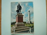 Devon Postcard: Plymouth, The Hoe, Sir Francis Drake Statue & War Memorial