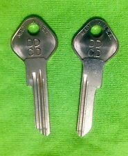 OEM CHRYSLER KEY BLANKS NOS 1949-51  (2)TRUNK for 1949-1951 CHRYSLER