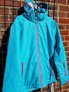 "Female Surfanic junior ski jacket & winter coat. Ada Blue 32"" 164cm approx 13yrs"