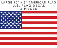 """10"""" American Flag sticker 3pieces die-cut decal military tactical USA US VINYL"""