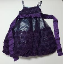 Bonnie Jean size 8 girls toddler dress purple rosettes formal party dress