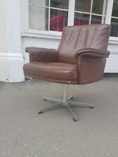 De sede vintage leather chair midcentury retro