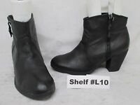 Steve Madden Black Leather Zip High Heel Ankle Boots Size 8.5 M Style Reflekt