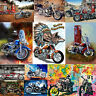 5D DIY Full Drill Diamond Painting Motorcycle Cross Craft Stitch Embroidery Kit