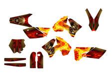 2005 - 2006 KTM SX SXF 125 250 450 525 Graphics kit #6666N Skull  Design