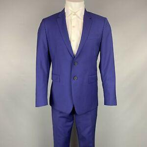 PAUL SMITH Size 40 Regular Purple Wool / Mohair Notch Lapel Suit