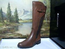 Kniehohe Damen-Stiefel aus Echtleder mit mittlerem Absatz (3-5 cm)