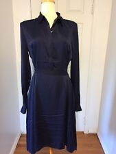 NWT A|X Armani Exchange Navy Blue Hi-Lo Hem Size 12 Dress MSRP $ 170