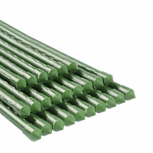 25pcs Garden Plant Stakes Tomato Stick Plastic Coated Metal Plant Supports Stake