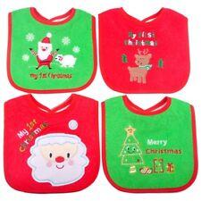 Christmas Baby Bib Cute Waterproof Saliva Towel Infant Toddler Feeding Bib 1pc