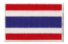Écusson drapeau Thailande Thai patche thermocollant patch 7x4,5cm