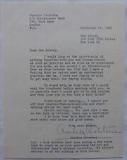 Charles Crichton signed letter,September 17,1962