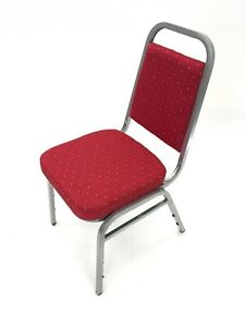 CY-058 Red & Silver Banquet Chairs, Banqueting Chairs, Wedding Chairs