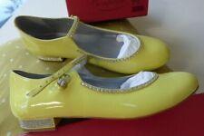Bonpoint diamonte mary jane shoes 35 2 patent leather NEW girls French lemon