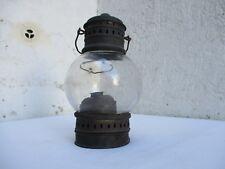Lanterne tempête 19ème siècle bronze et verre soufflet