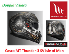 Casco Integrale Doppia Visiera MT Thunder-3 SV Isle of Man Race Taglia XS 53/54