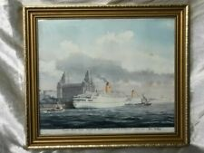 Watercolour Framed Maritime Art Paintings
