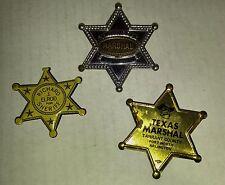 Vintage Texas & Junior MARSHAL plus Sherrif Pin Pinback Badge VG+ 4.5