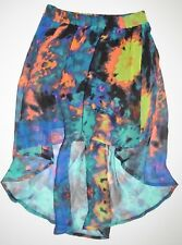 New Hurley Womens Sheila Asymmetrical Layered Skirt Size Small