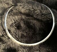 Vintage Mid-Century Modernist Mexican Sterling Silver Choker/Collar Necklace
