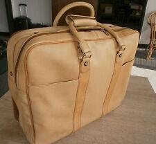 GARMENT BAG K1L TAN LEATHER FULL GRAIN KLUGE KINGPORT TRAVEL FLIGHT BAG NEW
