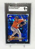 2018 Topps Chrome #433 Anthony Santander Sapphire Rookie RC Orioles SGC 9 Mint