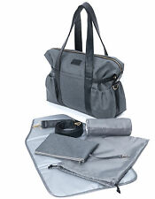 Baby Changing Bag Diaper Tote Nappy Bag 6PCs - Weekend Grey