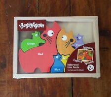 Puzzle casse-tête éducatif en bois pour bébé et enfant - famille de chat