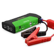16800mAh 2USB 12V Car SUV Jump Starter Booster Battery Power Bank Charger Green