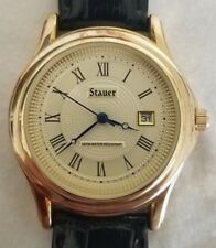 Stauer Authentic Metropolitan Wrist Watch New Battery 7/31/18 clean and polished