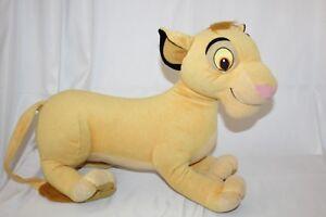 "Disney's The Lion King Jumbo Simba Cub Plush Toy Large Size Hasbro 18"" Stuffed"