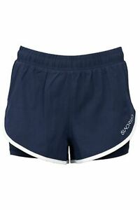 Sundried Womens Running Shorts Ladies Track Gym Jogging 2-in-1 Shorts (Recycled)