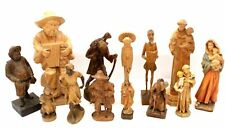 Lot Of 13 Assorted CARVED WOODEN Ornate Figures -Some Religious Depictions - T06