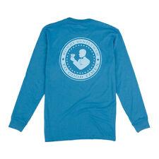 Rowdy Gentleman Good Times Seal Blue Small Pocket T-Shirt Long Sleeve Men Women