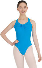 Capezio Women Blue Ocean Wide XStrap Leotard NWT 2XSmall Adult Dance $39 | 10189