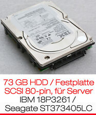 73GB SCSI HARDDISC HDD SCSI IBM 18P3261 SEAGATE ST373405LC FÜR SERVER HOTPLUG