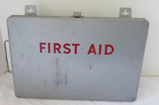 Vintage Aluminum First Aid Box by Reader's Digest Mount to Wall or Carry, Full