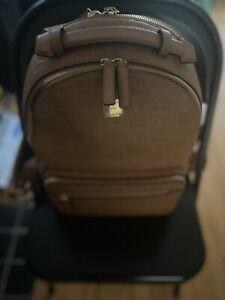 MCM BackpackMedium Stark Side Studs Cognac Used