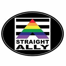 Gay Pride Magnet Euro Design for Auto or Truck Straight Ally