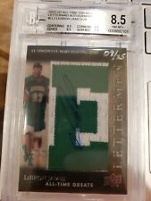 2012 UD All-time greats LeBron James Letter Patch AUTO /25 BGS 8.5 only 2 better