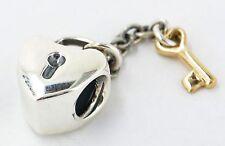 Authentic Pandora KEY TO MY HEART Charm New W/ Hinged Gift Box 790288