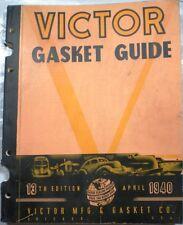 VICTOR GASKET GUIDE ASBESTOS Dana Corp 13th Edit. 1940
