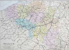 Antwerp Map Europe.Belgium Antwerp Antique Original Antique Europe Maps Atlases Ebay