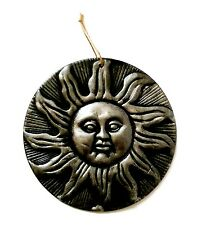 Terracotta Grey Silver Sun Plaque Wall Hanging Ornament Home Garden Patio Decor