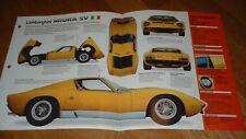 1970 Lamborghini Miura P400sv Original Imp Brochure Specs Info 70 P400 Sv 71 Fits Lamborghini Jalpa