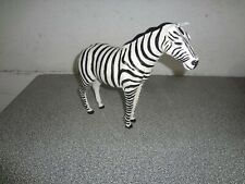 Medium painted Handmade leather Zebra free standing on 4 legs animal figurine