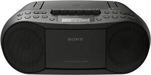 Sony Boombox CD Player Radio Stereo Cassette CD CFD-S70 Black NEW