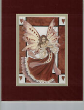 Hearts print Amy Brown Matted Mini-Print Fairy Rare!