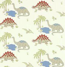 1 rotolo di Dinosauro lino/multi-Laura Ashley Carta da parati per bambini