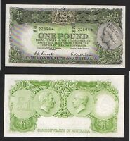 Australia R-33s.  1953 Coombs/Wilson One Pound - STAR NOTE..  gVF